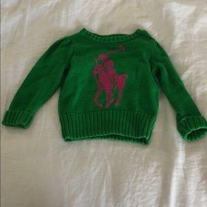 Baby Girls Ralph Lauren sweater size 18 months